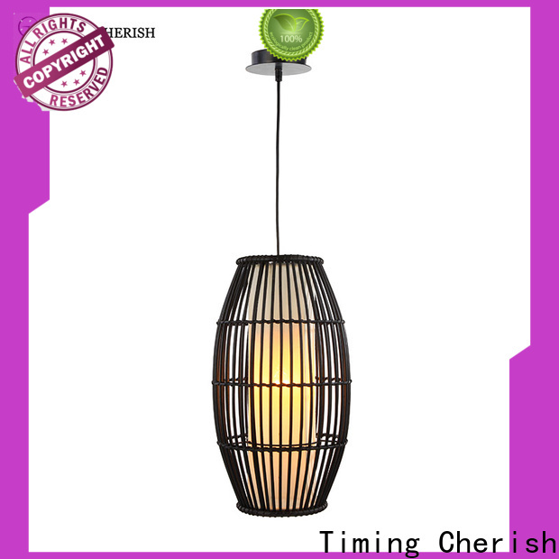Timing Cherish woven wood pendant light supply for home