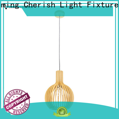 Timing Cherish cord wood pendant light company for living room