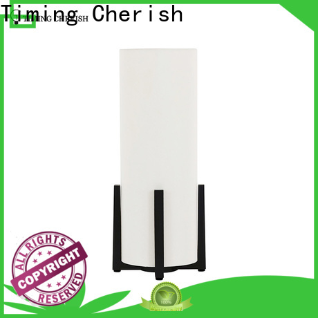 Timing Cherish linen adjustable table lamp manufacturers for hotel