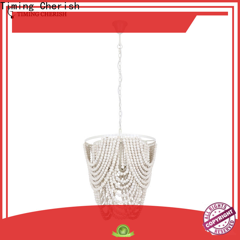 Timing Cherish beads wood bead chandelier for business for bar