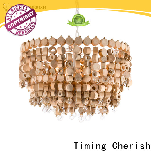 large wood bead chandelier eva company for hotel