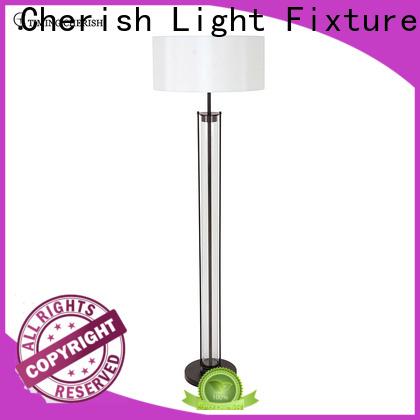 Timing Cherish wicker adjustable floor lamp supply for hotel