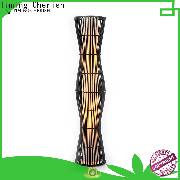 Timing Cherish wicker wooden floor lamp for business for home