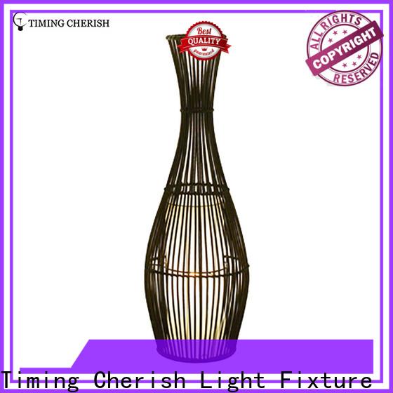 Timing Cherish rattan corner floor lamp suppliers for living room