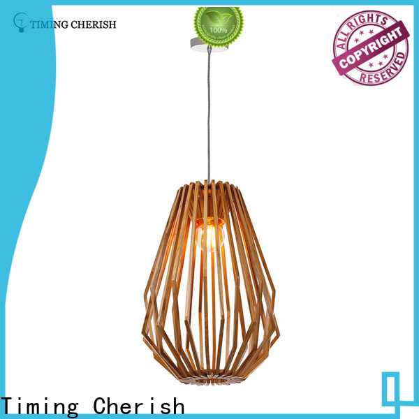 Timing Cherish boho wood pendant light factory for home