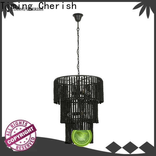 octave wood bead chandelier cotton factory for home