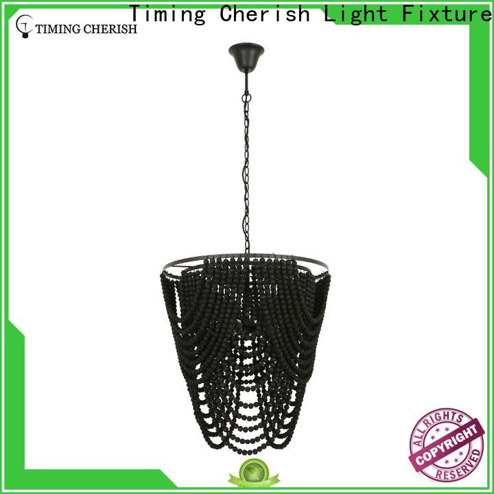 Timing Cherish blackfrench beaded pendant light suppliers for bar