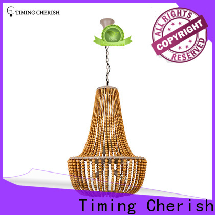 draped wood bead chandelier macrame factory for living room