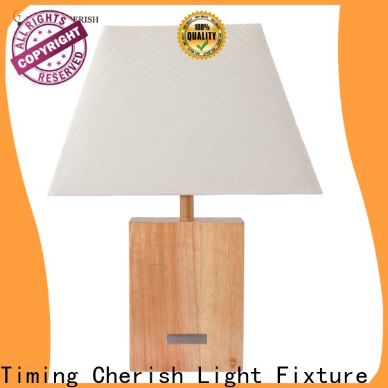 Timing Cherish timber table light for sale for hotel