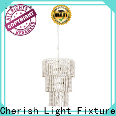 Timing Cherish grey wood bead chandelier manufacturers for living room