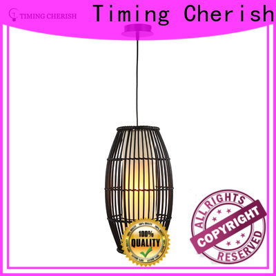 Timing Cherish black timber pendant light for business for home