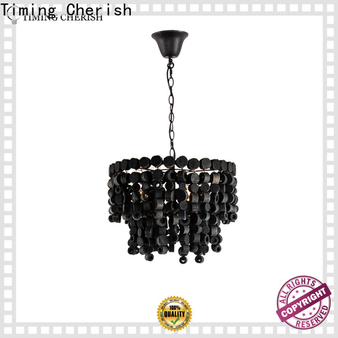 large fringe chandelier wood suppliers for bar