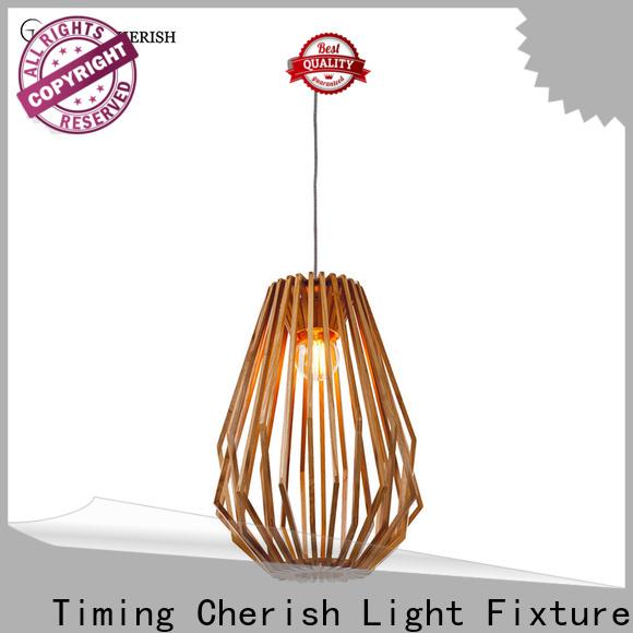 Timing Cherish white wood pendant light for sale for living room