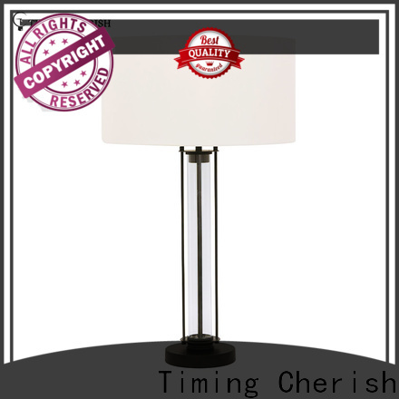 Timing Cherish shade wood table lamp suppliers for living room