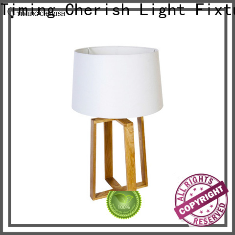 natural wood table lamp rattan supply for home