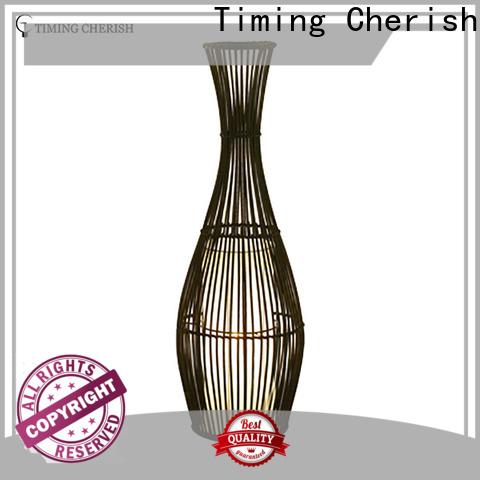 Timing Cherish stylish wicker floor lamp supply for hotel