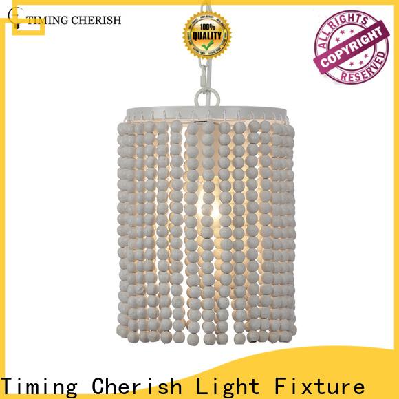 Timing Cherish boho wood pendant light suppliers for hotel