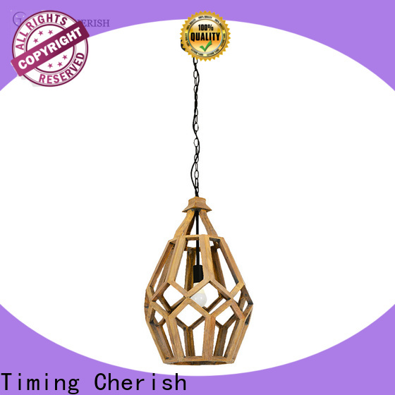 Timing Cherish wood timber pendant light suppliers for bar