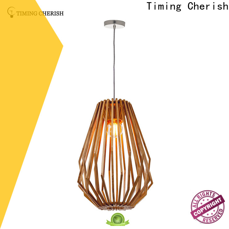 Timing Cherish crafted wood pendant light factory for home