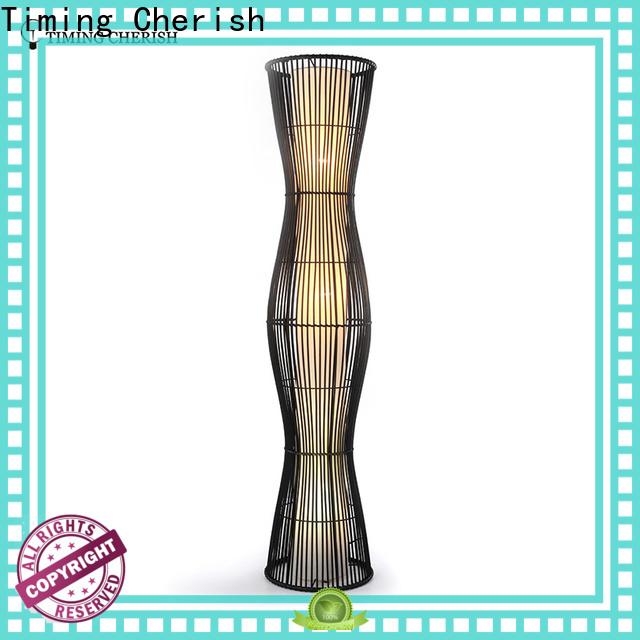 Timing Cherish whiteblack wooden floor lamp for business for living room