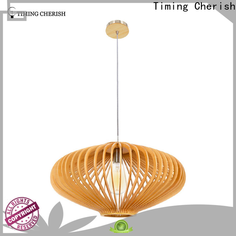 handcrafted wood pendant light polytope for business for living room