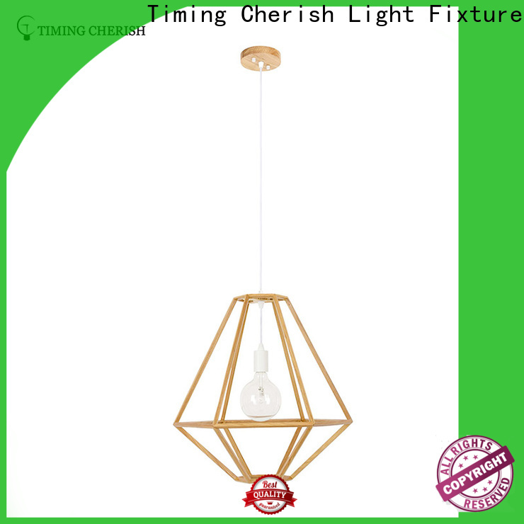 Timing Cherish natural wood pendant light factory for bar