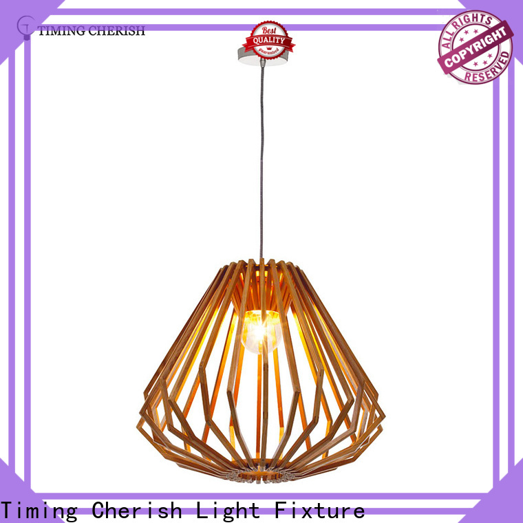 wood hanging pendant lights frisbee suppliers for bar