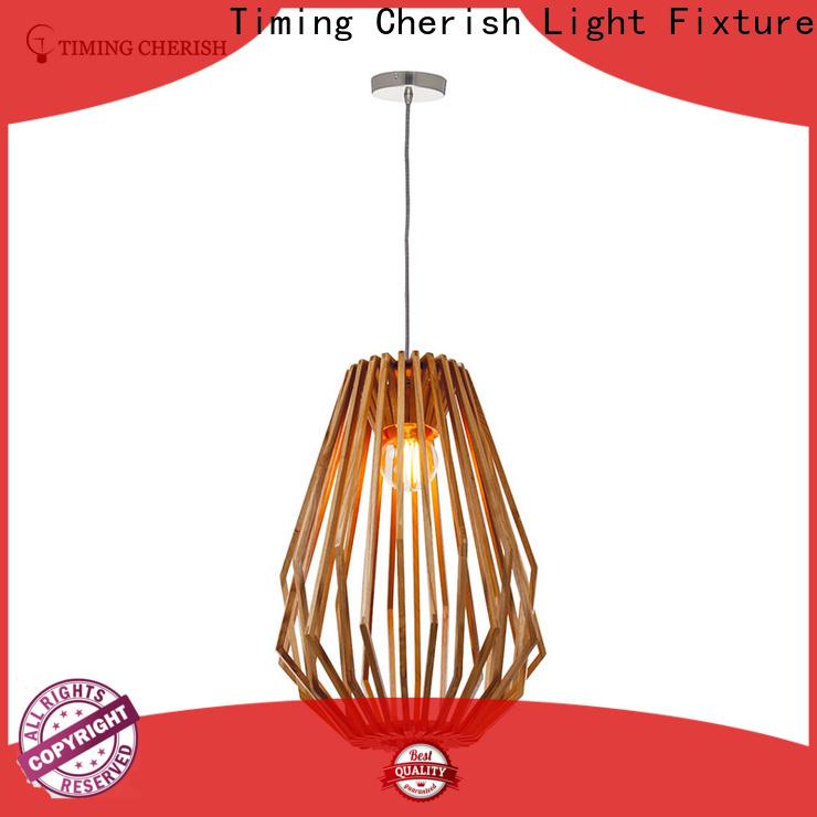 Timing Cherish handmade timber pendant light supply for living room