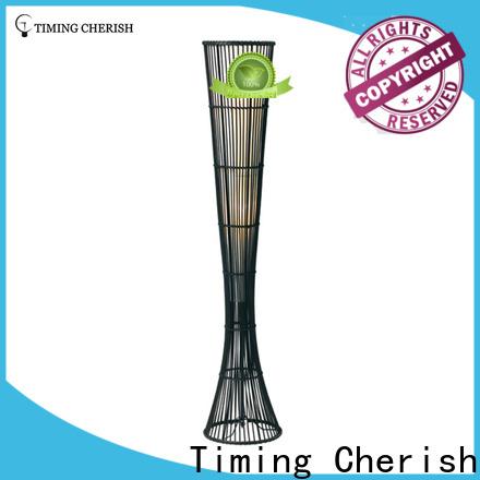 Timing Cherish nickel wicker floor lamp factory for bar