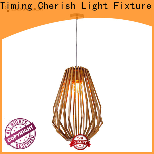 Timing Cherish frisbee timber pendant light suppliers for hotel