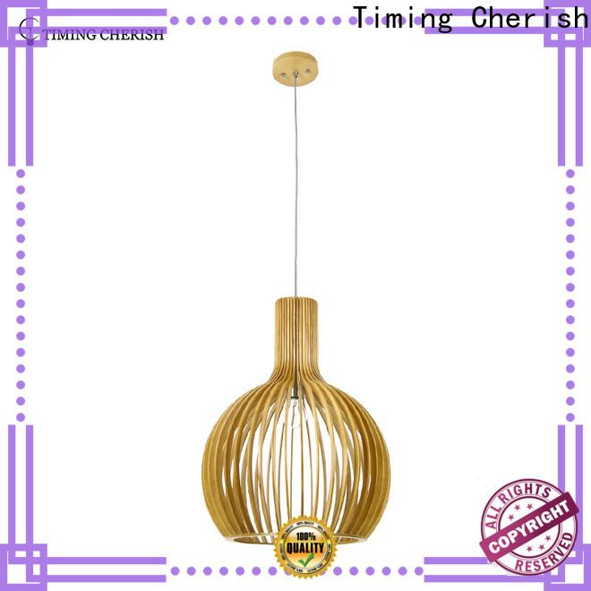 Timing Cherish modern timber pendant light for sale for shop