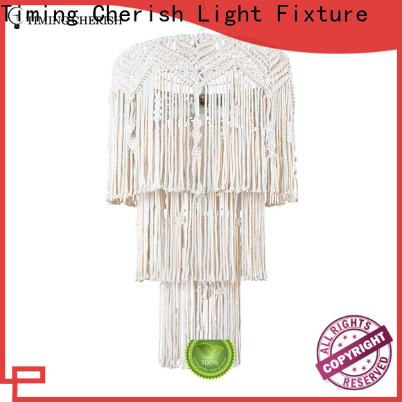 Timing Cherish white fringe chandelier suppliers for hotel