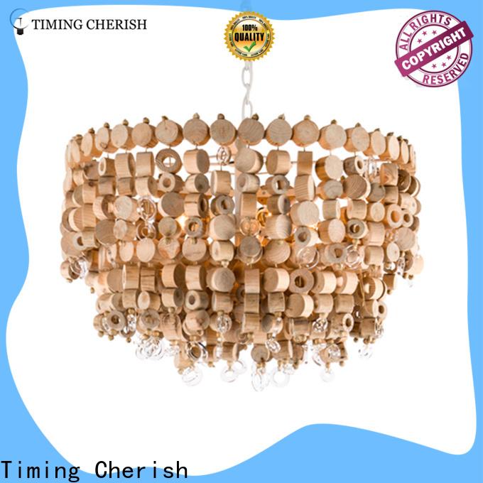 Timing Cherish macramé beaded pendant light company for hotel