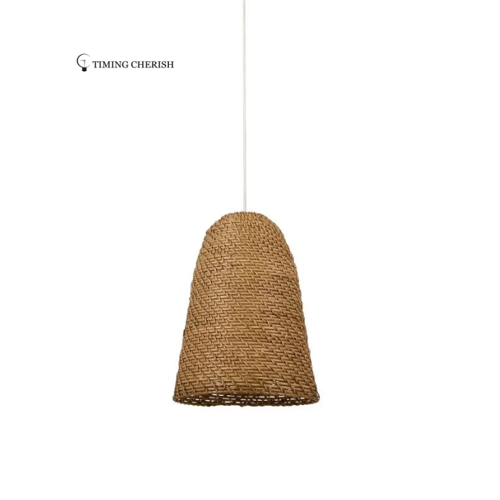 Leed Wicker Rattan Recycled Materials Pendant Light