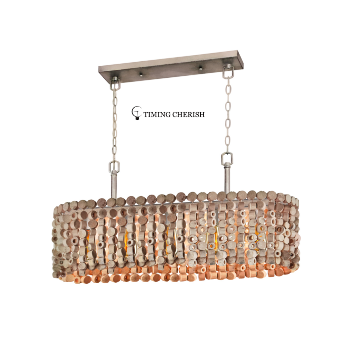 Exclusive Octave Beaded Wood Chips Pendant Light 5Light 2021 Lighting trends