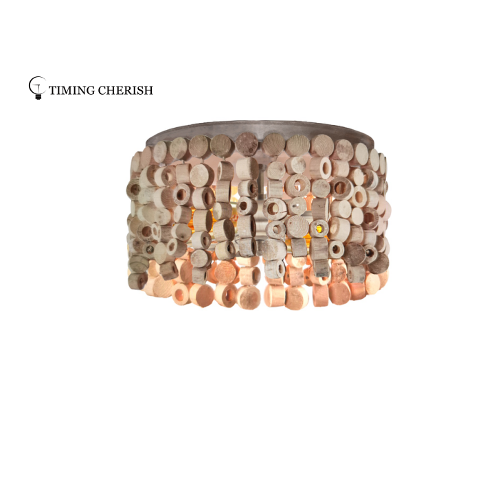 Exclusive Octave Beaded Wood Chips Ceiling Light 2 Light 2021 Lighting trends