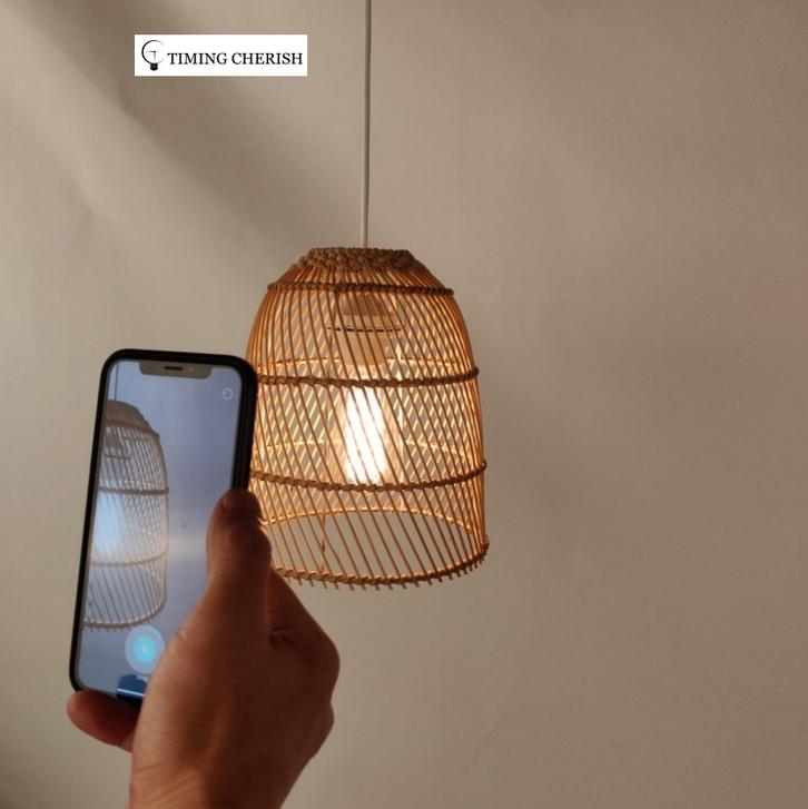 WYP3270 Orelli Natural Material Hand Woven Wicker Hanging Pendant Lamp 2021 Interior Design Trends