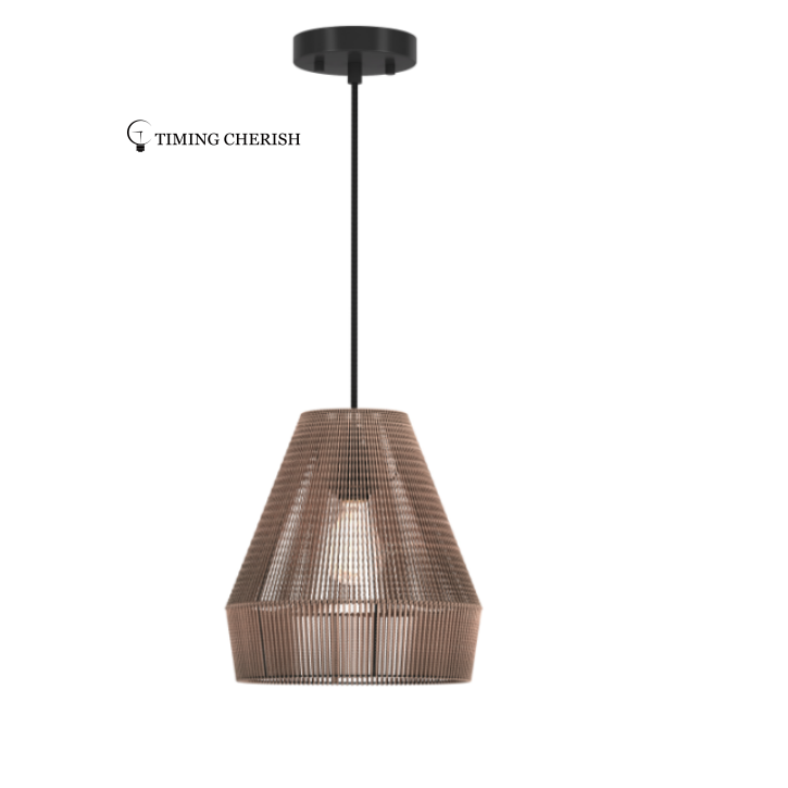 Alpha Woven Natural Jute Suspension Lamp 2021 Lighting trends