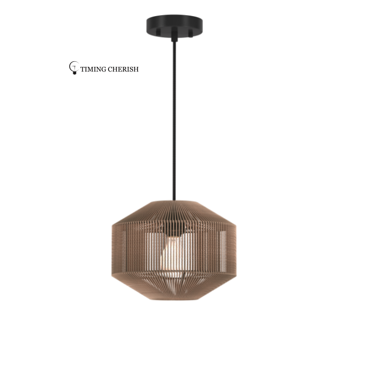 Alpha Modern Boho Handcrafted of Natural Fiber  Suspension Lamp 2021 Lighting trends