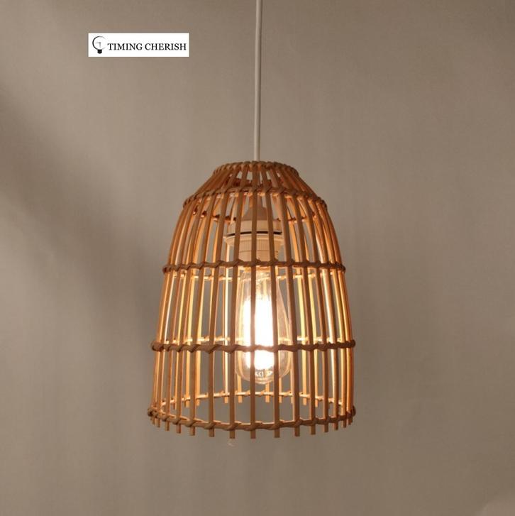 Ikon Basket weave Bamboo Pendant Shade 2021 Interior Design Trend WYP3315