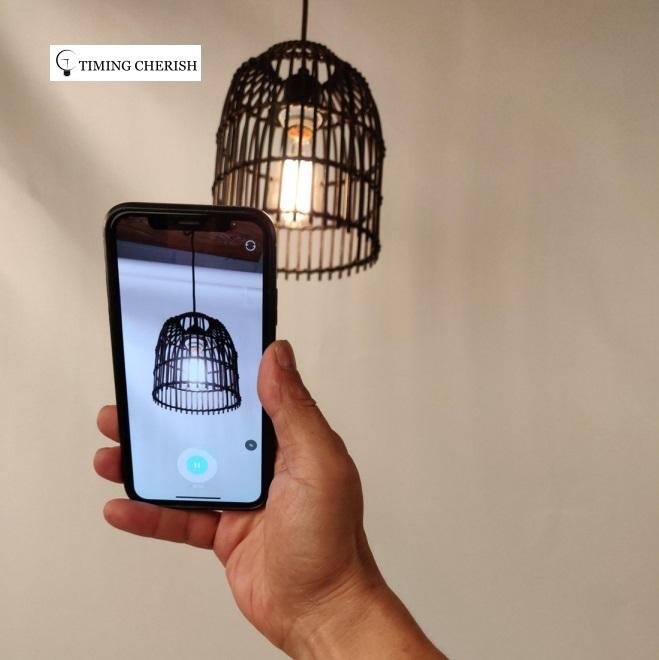 Elvin Small Woven Wicker Hanging Pendant Lamp 2021 Interior Design Trend WYP3316