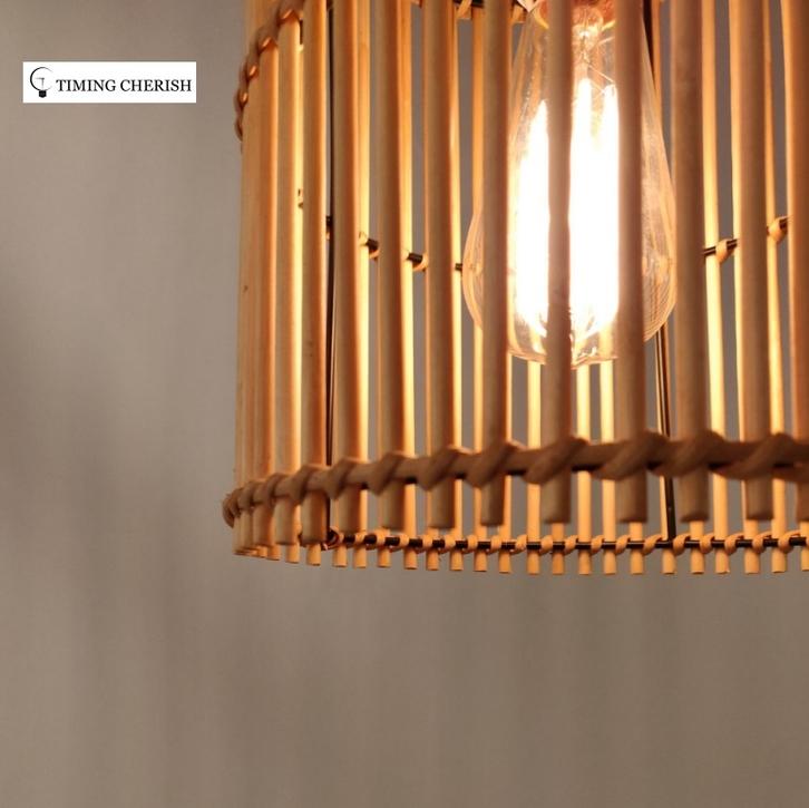 Lumi Wicker Drum Hanging Pendant Light in Classic Natural 2021 nterior Design Trend WYP3280