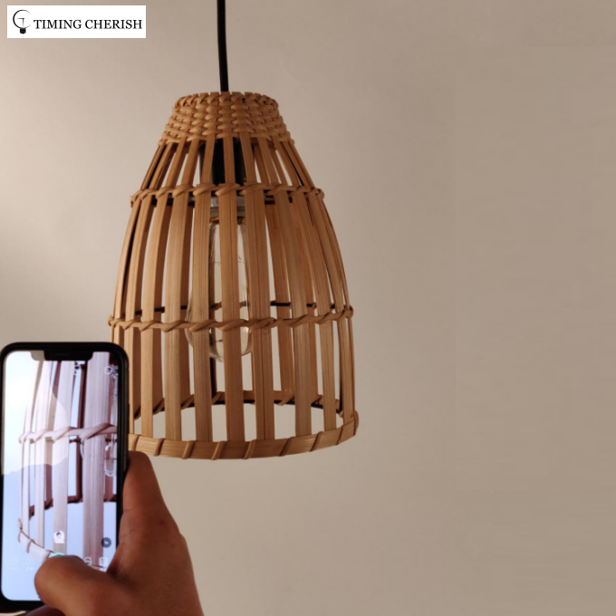 Fantizi Natural Finish Woven Fiber Design Pendant Lamp 2021 Interior Design Trend 	WYP3285