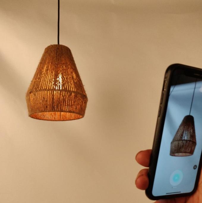 Alpha Woven Natural Jute Suspension Lamp 2021 Interior Design Trend WYP3290