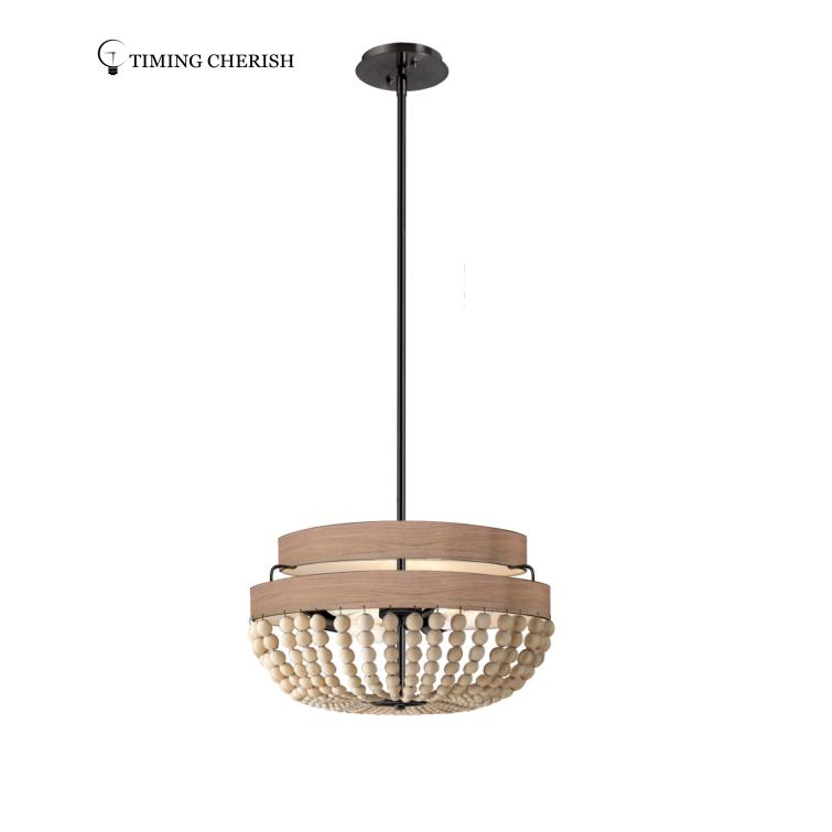 Baikal Wood Beads Hanging Ceiling Lamp 2021 Lighting trends