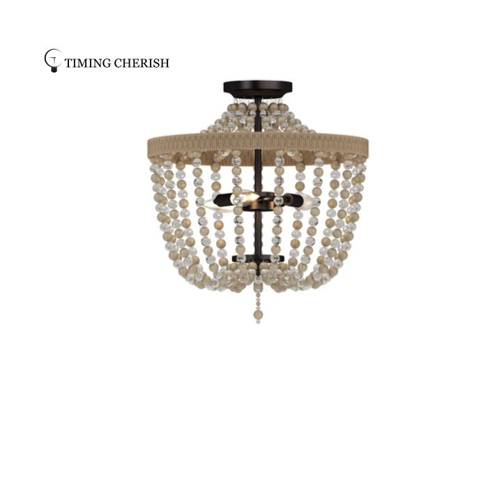 Baikal Best Wood Beaded Ceiling Light  in 2021