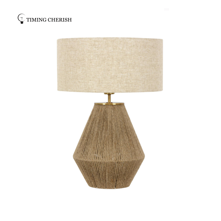 Patriot Jute Table Lamp with Natural Linen Shade Table Lamp trends