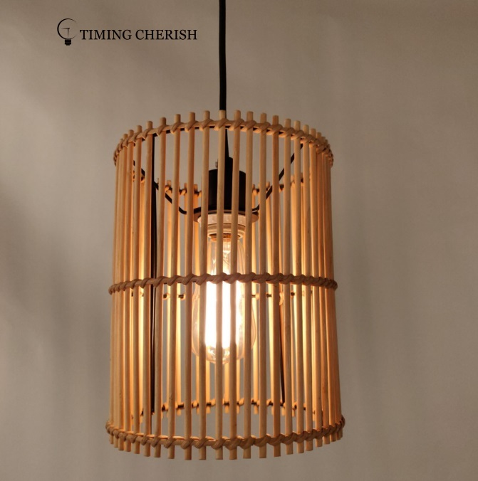 Lumi Hand Crafted Timeless Wicked Shade in Classic Natural Interior Design Trend