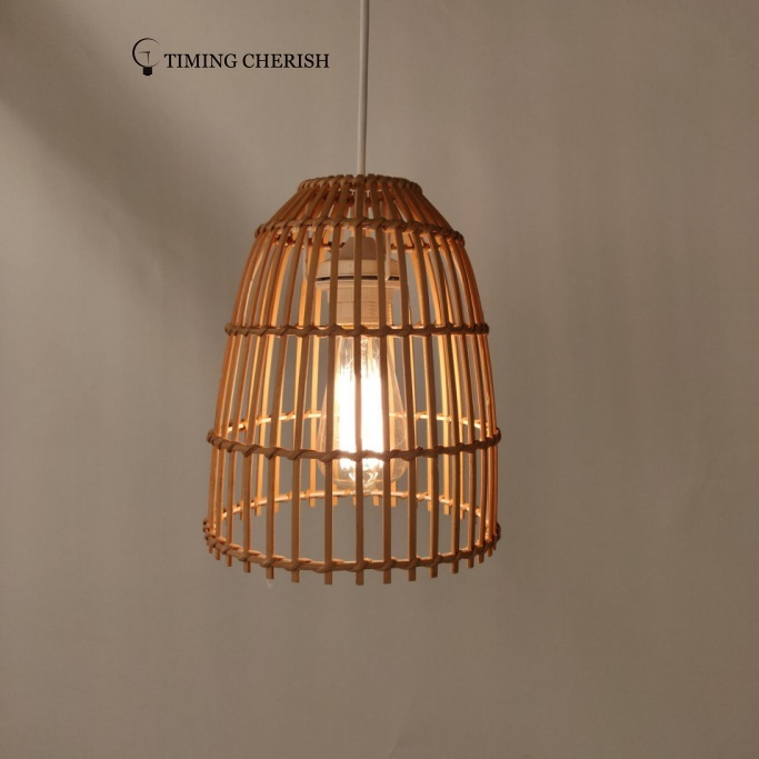 Ikon Basket weave Bamboo Pendant Shade Interior Design Trend