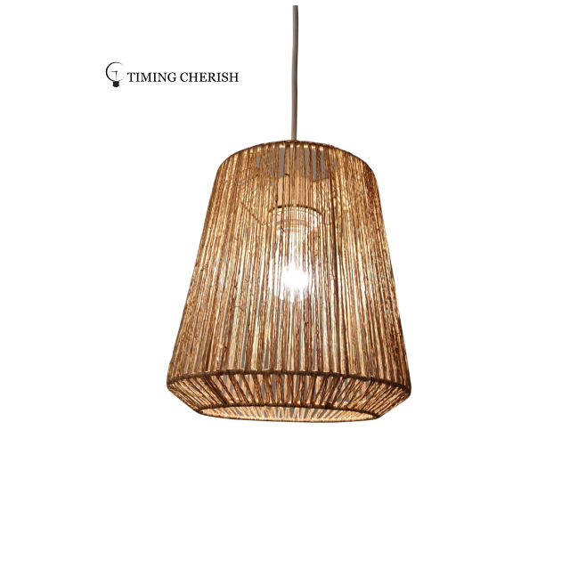 Alpha Woven Natural Jute Suspension Lamp 2021 Lighting trends